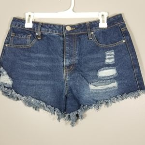 Refuge Size 8 Women's Denim Shorts Blue